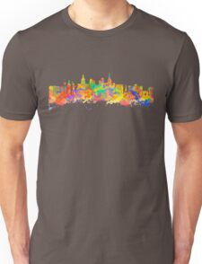 Watercolor art print of the skyline of Las Vegas Nevada City USA Unisex T-Shirt