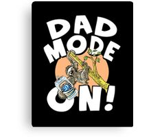 Dad Mode On Sloth Canvas Print