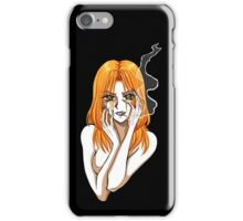Claudia smoking - Girl with a cigarette iPhone Case/Skin