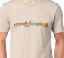 Glasgow Art Watercolor art print of the skyline of Glasgow, Scotland, United Kingdom Unisex T-Shirt