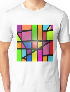 Colorful shiny Abstract Tiles Unisex T-Shirt