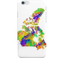 Canada Watercolor Map iPhone Case/Skin