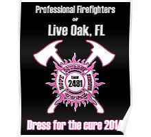 Firefighters Dress for the Cure Poster