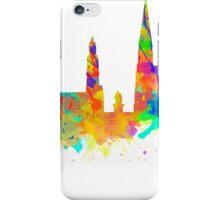 Watercolor art print of the skyline of Antwerp in Belgium iPhone Case/Skin