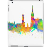 Watercolor art print of the skyline of Antwerp in Belgium iPad Case/Skin