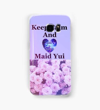 Keep Calm Maid Yui Samsung Galaxy Case/Skin