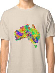 Australia Watercolor Map Classic T-Shirt