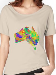Australia Watercolor Map Women's Relaxed Fit T-Shirt