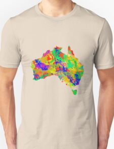 Australia Watercolor Map Unisex T-Shirt