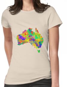 Australia Watercolor Map Womens Fitted T-Shirt
