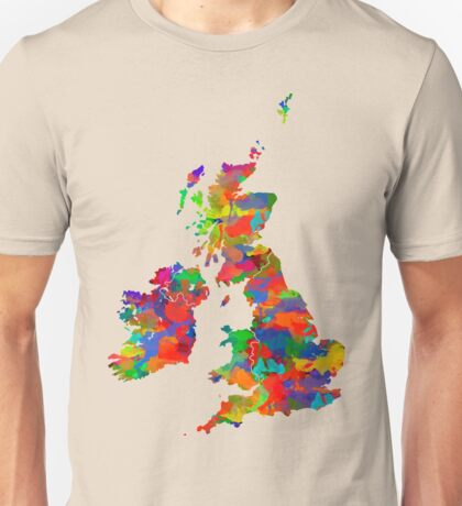 Great Britain Watercolor Map Unisex T-Shirt