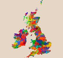 Great Britain Watercolor Map Unisex T-Shirt
