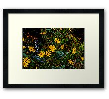 River Flowers Framed Print
