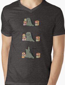 Gojira Kawaii Mens V-Neck T-Shirt