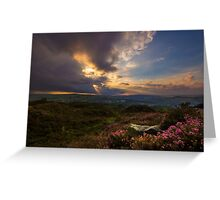 Norland moor sunset Greeting Card
