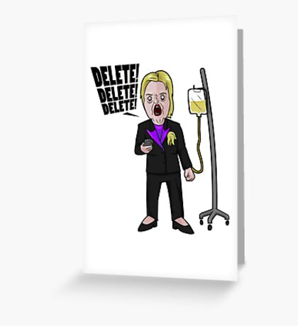 Crooked Hillary Greeting Card