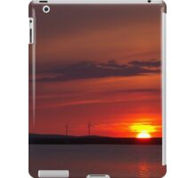 Wind turbines at sunset iPad Case/Skin