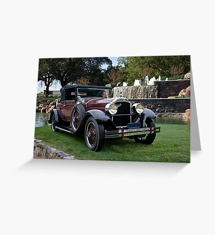 1928 Packard 526 Convertible Coupe I Greeting Card