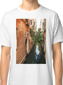 Impressions Of Venice - Small Canal Hugged by a Fig Tree Classic T-Shirt