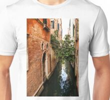 Impressions Of Venice - Small Canal Hugged by a Fig Tree Unisex T-Shirt