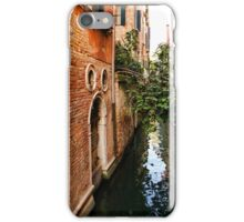 Impressions Of Venice - Small Canal Hugged by a Fig Tree iPhone Case/Skin
