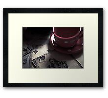 The Queen is Coming for Tea!  Framed Print