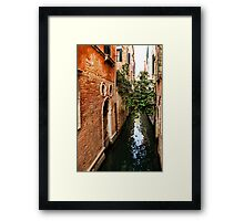 Impressions Of Venice - Small Canal Hugged by a Fig Tree Framed Print