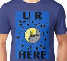U R HERE, FLAT EARTH MAP Unisex T-Shirt
