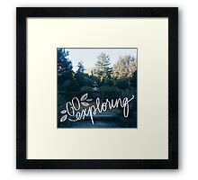 Go Exploring Framed Print