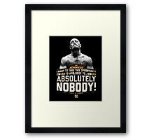Apologize to Nobody - Conor McGregor Framed Print