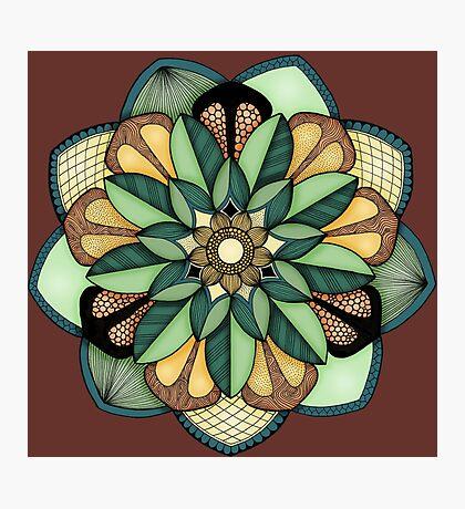 Floral Mandala Photographic Print