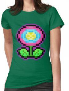 Flower Power - Pixels Womens Fitted T-Shirt