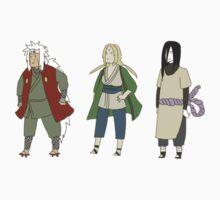 Naruto Sticker Set - Jiraiya Tsunade Orochimaru by Cycha