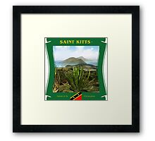 Saint Kitts - Salute To St. Christopher Framed Print