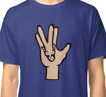 spock hand star trek Classic T-Shirt
