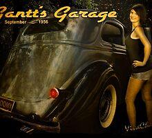 Gantt's Garage 36 Sedan Roomy Calendar Page by ChasSinklier