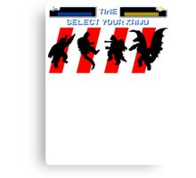 Select your Kaiju (Silhouettes) Canvas Print