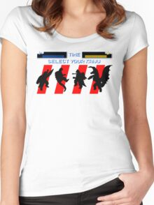 Select your Kaiju (Silhouettes) Women's Fitted Scoop T-Shirt