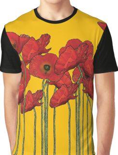 Poppies Yellow Graphic T-Shirt
