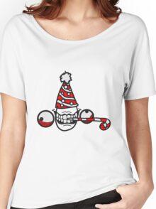 geburtstag party feiern hut tröte geschenk wahnsinnig gesicht comic cartoon horror halloween design cool crazy verrückt verwirrt blöd dumm komisch gestört  Women's Relaxed Fit T-Shirt