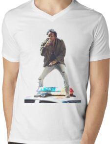 Kendrick Lamar Standing on Cop Car Mens V-Neck T-Shirt