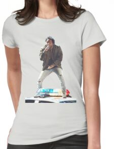 Kendrick Lamar Standing on Cop Car Womens Fitted T-Shirt
