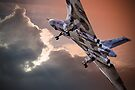 Vulcan XH558 takes off at Farnborough 2014 by Colin  Williams Photography
