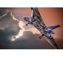 Vulcan XH558 takes off at Farnborough 2014 Photographic Print