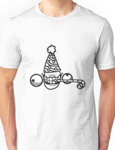 geburtstag party feiern hut tröte geschenk wahnsinnig gesicht comic cartoon horror halloween design cool crazy verrückt verwirrt blöd dumm komisch gestört  Unisex T-Shirt