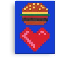 8-BIT BURGER LOVE Canvas Print