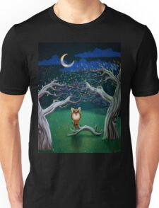 Owl In The Magic Forest Unisex T-Shirt