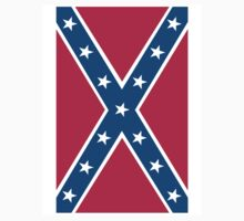 Confederate, Rebel, Dixie Flag, Pure & Simple, Portrait by TOM HILL - Designer