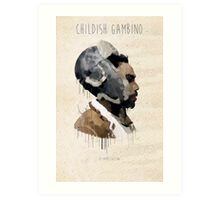 Childish Gambino Droplet Art Print
