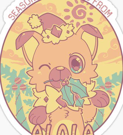 Jingle Bell Rockruff Sticker
